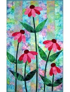 Ribbon Cone Flowers Quilt Pattern by sherrie