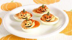 HALLOWEEN Jack-O'-Lantern Deviled Eggs