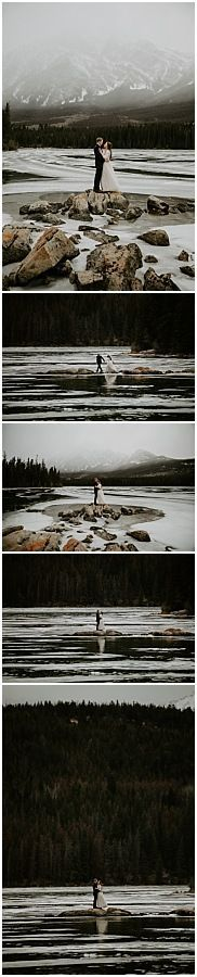 This beautiful mountain wedding at Pyamid Lake Resort in Jasper was adventurous, and real. The overcast mountain weather helped give this wedding a moody vibe. To see more of this Jasper wedding visit Teller of Tales Photography. Fish Creek Park, Wedding Photos, Wedding Ideas, Lake Resort, Best Photographers, Photo Look, Engagement Shoots, Great Photos, Fall Wedding