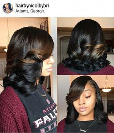 80 Bob Hairstyles To Give You All The Short Hair Inspiration - Hairstyles Trends Black Girls Hairstyles, Girl Hairstyles, Quick Weave Hairstyles, African Hairstyles, Relaxed Hair Hairstyles, 1970 Hairstyles, Teenage Hairstyles, Gorgeous Hairstyles, Easy Hairstyle