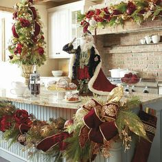 Decorate your indoor and outdoor space in verdant style with Christmas wreaths and garlands from Frontgate. Shop individual pieces and sets for effortless holiday decor. Christmas Greenery, Christmas Mantels, Rustic Christmas, Christmas Wreaths, Christmas Crafts, Christmas Kitchen, Christmas 2017, All Things Christmas, Christmas Holidays