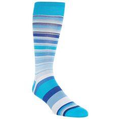 Men's Bugatchi Stripe Crew Socks (62 BRL) ❤ liked on Polyvore featuring men's fashion, men's clothing, men's socks, aqua, mens crew socks, mens striped socks and mens socks