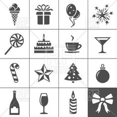 Holidays and event icons, 36174, download royalty-free vector clipart (EPS)