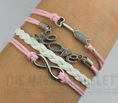 Hot Selling Charm Infinity Bangle Antique by themagicbracelet, $4.99