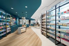 We work with our customers to create competitive and customized solutions. AMlab is a creative studio specialised in strategic advice, design and realisation of shops, restaurants, pharmacies, hotels and offices. Pharmacy Store, Pharmacy Humor, Restaurants, Retail Shelving, Medical Design, Retail Store Design, Elderly Home, Shops, Design Furniture