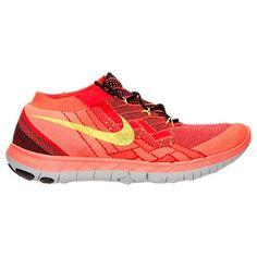 Nike Free 3.0 Flyknit Black/Volt/University Red/Bright Crimson