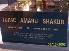 Tupac Shakur Funeral   Tupac Shakur statue