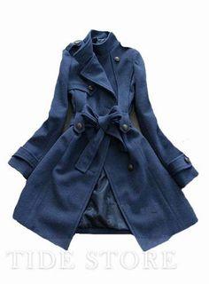 Premier Stand Collar Coat: tidestore.com