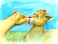 Simba's first kiss (conceptart).