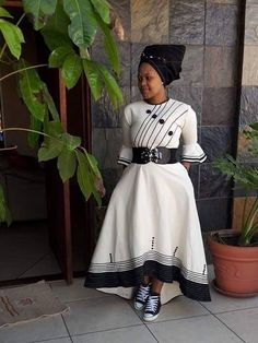 Long African Dresses, African Wedding Dress, African Print Dresses, South African Traditional Dresses, Traditional Outfits, Traditional Wedding, Xhosa Attire, African Attire, African Fashion Ankara