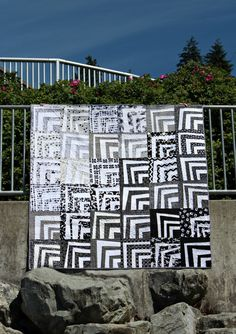 Seattle Modern Quilt Guild - Fade to Back charity quilt. I was a member of this guild when I lived in Seattle - I miss those ladies!