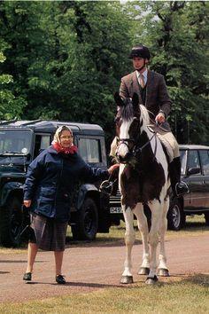 May 93 Windsor Horse Show Queen Elizabeth & Prince Edward