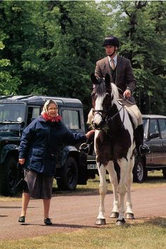 May 93 Windsor Horse Show Queen Elizabeth & Prince Edward