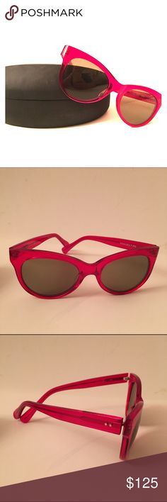 Norma Kamali red square cat eye sunglasses Norma Kamali classic red square cat eye sunglasses. Kamali Kulture brand. Red translucent plastic frame with lightly tinted lense. In original case. Purchased at Norma Kamli flagship store in Manhattan. Norma Kamali Accessories Sunglasses