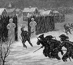 Snowman, French and Indians attack the Stockade