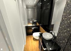 Mała łazienka gościnna - Łazienka - Styl Nowoczesny - MKdezere