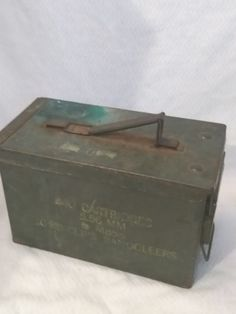 $39.96 or best offer 840 CRTG 5.56MM Ball M855 Label 50 cal Caliber Ammo Can Box Used Empty  #Unbranded