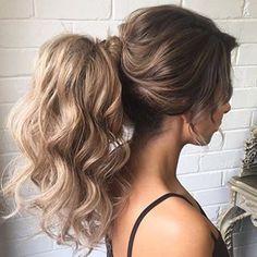 high big ponytail!  ~ we ❤ this! moncheriprom.com