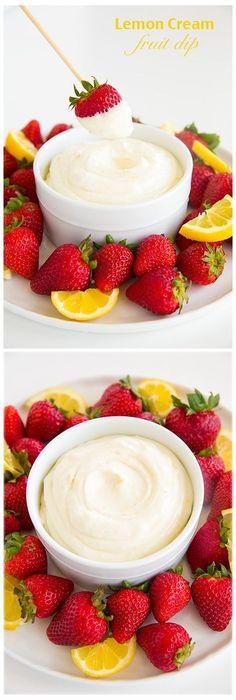 Lemon Cream Fruit Dip - sooo good and so easy to make!