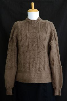 Knitting pattern for Susan's Eriskay Gansey Sweater with channel island cast-on