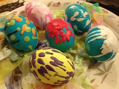 Melted Crayon Easter Eggs | Emily's Healthy Living