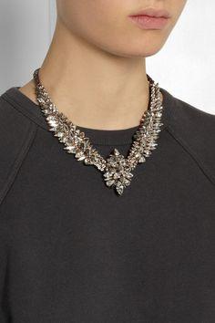 Shourouk|Tabatha Comet gold-tone Swarovski crystal necklace|NET-A-PORTER.COM