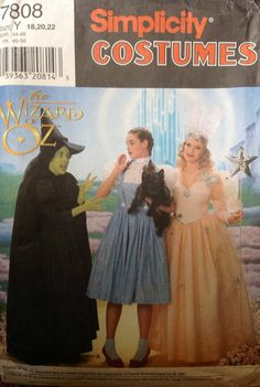 Simplicity 7808 The Wizard of Oz Costumes by Lonestarblondie, $2.75