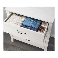 BRUSALI Komoda, 3 szuflady - biały - IKEA
