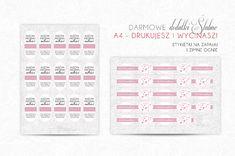 Ślubne dekoracje - etykietki na zapałki i zimne ognie - My Pink Plum!