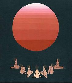 by Laura Berger Art And Illustration, Painting Inspiration, Art Inspo, Adventure Symbol, Adventure Tattoo, Laura Berger, Travel Baby Showers, Sun Art, Sacred Feminine