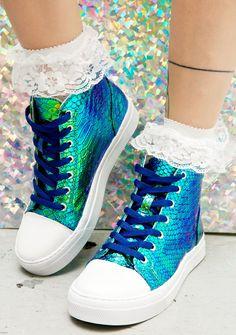 Mermaid Scale High Top Sneakers $45