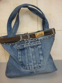Recycled Denim Purse Patterns | Recycled Jean Purse by djd1959 | Sewing Ideas