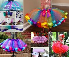 DIY no sewing tutu dress that every little girl should have one ! Very pretty ~~~ #diy #craft #tutu