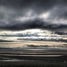 #kitesurfing into the silvery light at Semiahmoo Bay #surreybc