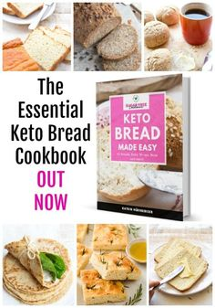 Want fluffy keto bread, delicious rolls, buns, wraps and more? Get yourself a copy of Keto Bread Made Easy Cookbook eBook by Sugar Free Londoner! #ketobread #cookbook #ebook #lowcarbbread #ketorolls Best Low Carb Bread, Keto Bread, Lowest Carb Bread Recipe, Low Carb Keto, Loaf Recipes, Cooking Recipes, Healthy Recipes, Healthy Food, Dessert Recipes