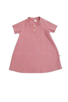 Pili Pala Organic Red Gingham Dress , made in Wales <3