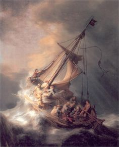 rembrandt, seas, museums, boston, art, storms, paintings
