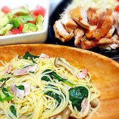 その他... アボカドとトマトのサラダと 照り焼きチキン - 13件のもぐもぐ - 激ウマ*和風パスタ by bakanekochibi