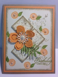 My Creative Corner!: A Timeless Textures Swirly Bird Touches of Texture and Botanical Builders Birthday Card