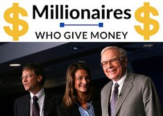Millionaires Giving Money: Millionaires Who Give Money Away - Billionaires Who Give Money Away Wealthy People, Rich People, How To Get Money, Make Money Online, The Giving Pledge, Disability Help, 1 Billion Dollars, Anti Social Behaviour, Most Successful Businesses