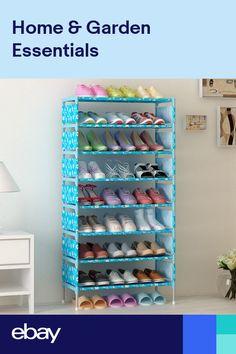 Portable Easy DIY Home Shoe Cabinet Storage Organizer Thick Racks Simple Stack Cardboard Box Storage, Diy Cardboard Furniture, Storage Boxes, Closet Shoe Storage, Shoe Storage Cabinet, Storage Cabinets, Metal Shoe Rack, Bamboo Shoe Rack, Shoe Racks