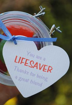 Cute life saver valentine idea !  Love the photos on this one too !