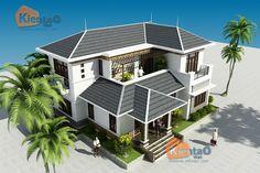 Thiết kế mẫu nhà biệt thự đẹp 2 tầng 6