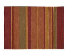 Alfombra de lana y algodón Plateau, multicolor I - 69x244 cm