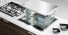 Un horno integrado en la superficie de trabajo