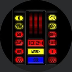Image result for knight rider android watch face