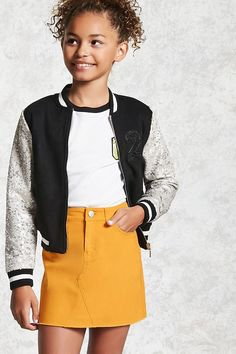 Girls denim skirt (kids) forever 21 baby's clothes in 2019 о Cute Outfits For Kids, Outfits For Teens, Cheap Outfits, Cheap Dresses, School Outfits, Summer Dresses, Skirt Fashion, Fashion Outfits, Fashion Clothes