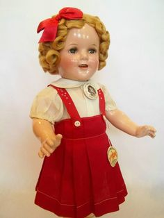 "18"" IDEAL 1938 Composition SHIRLEY TEMPLE DOLL From LITTLE MISS Marker"