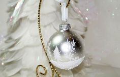 First Christmas Wedding Ornament Hand Painted by just4christmas