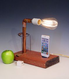 iPhone dock AND table lamp.